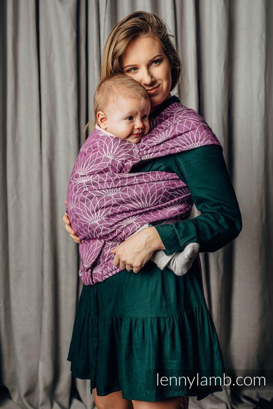 Porte-bébé LennyHybrid Half Buclke, taille standard, jacquard, 100% lin - LOTUS - PURPLE  #babywearing
