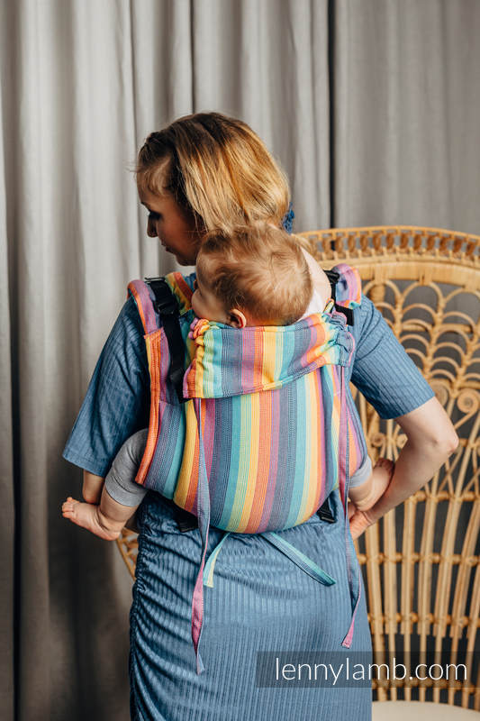 Lenny Buckle Onbuhimo baby carrier, toddler size, broken-twill weave (100% cotton) - LUNA #babywearing