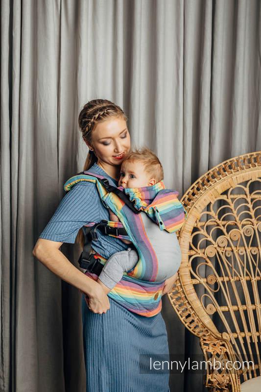 LennyGo Ergonomische  Mesh-Tragehilfe, Größe Baby, Kreuzköper-Bindung, 86% Baumwolle, 14% Poliester - LUNA #babywearing