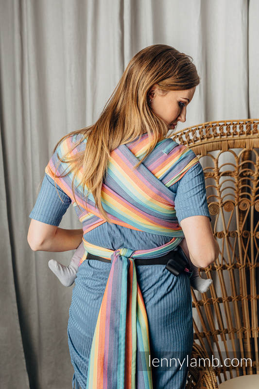 LennyHybrid Half Buckle Carrier, Standard Size, broken - twill weave 100% cotton - LUNA #babywearing