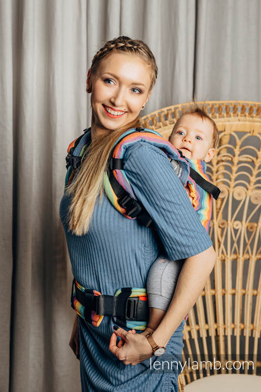 Nosidełko LennyUpGrade z tkaniny skośno-krzyżowej 100% bawełna, rozmiar standard - LUNA #babywearing