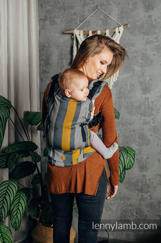 Nosidełko LennyUpGrade z tkaniny skośno-krzyżowej 100% bawełna, rozmiar standard - SMOKY - MIÓD #babywearing