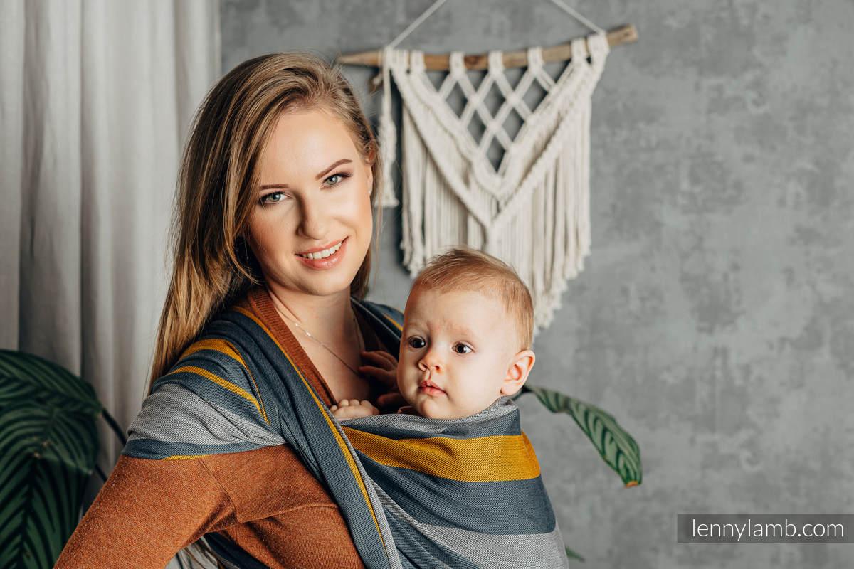 Baby Sling, Broken Twill Weave, 100% cotton,  SMOKY - HONEY - size M #babywearing