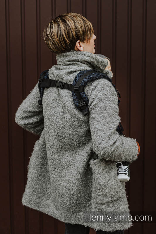 LennyUpGrade Carrier, Standard Size, jacquard weave, 62% cotton 26% linen 12% tussah silk - PEACOCK'S TAIL - SUBLIME #babywearing