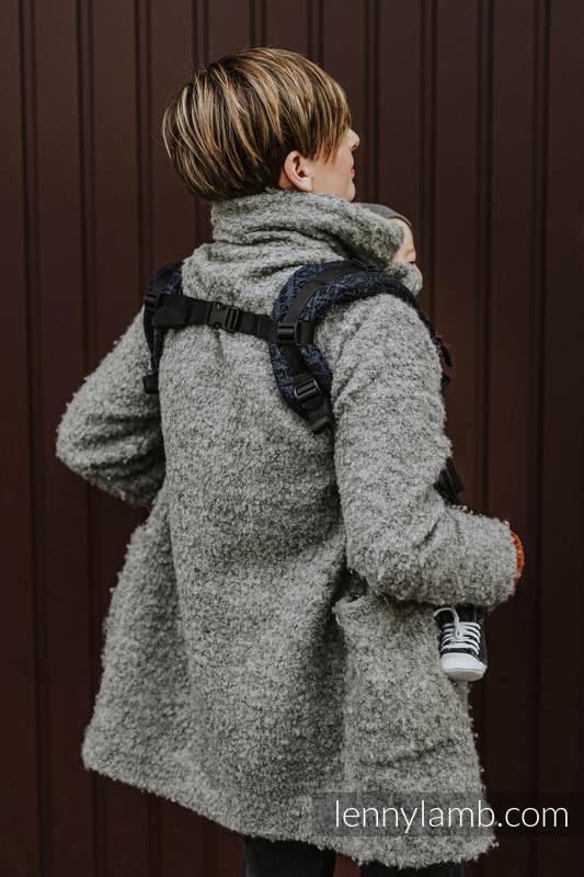 Marsupio LennyUpGrade, misura Standard, tessitura jacquard, 62% cotone 26% lino 12% seta tussah - PEACOCK'S TAIL - SUBLIME #babywearing
