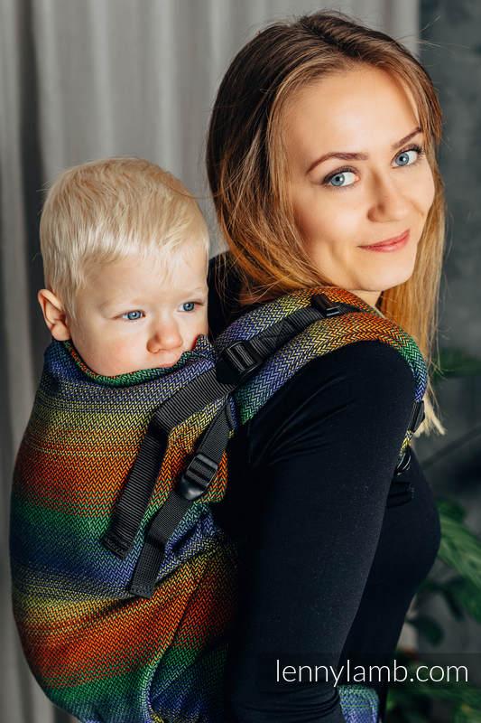Nosidełko LennyPreschool, splot jodełkowy, 100% bawełna, rozmiar preschool - MAŁA JODEŁKA DISCOVERY #babywearing