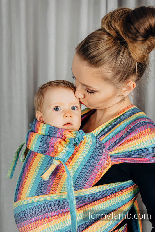 WRAP-TAI carrier Mini, broken-twill weave - 100% cotton - with hood, LUNA #babywearing