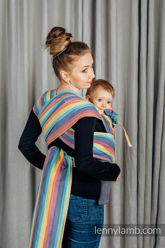 WRAP-TAI carrier TODDLER, broken-twill weave - 100% cotton - with hood, LUNA #babywearing