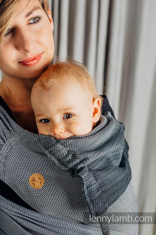 WRAP-TAI carrier Mini with hood/ herringbone twill / 100% cotton / LITTLE HERRINGBONE OMBRE GREY  #babywearing