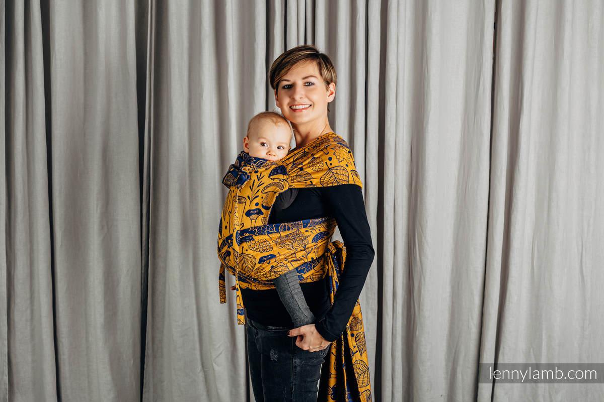 WRAP-TAI portabebé Toddler con capucha/ jacquard sarga/100% algodón/ UNDER THE LEAVES - GOLDEN AUTUMN #babywearing