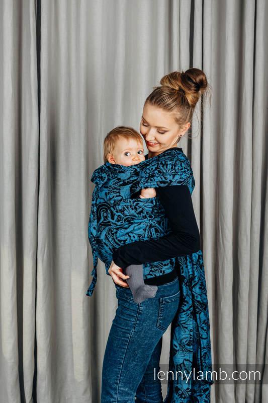 WRAP-TAI Tragehilfe Mini mit Kapuze/ Jacquardwebung / 100% Baumwolle / CLOCKWORK PERPETUUM #babywearing