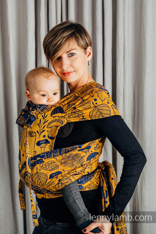 WRAP-TAI carrier Mini with hood/ jacquard twill / 100% cotton / UNDER THE LEAVES - GOLDEN AUTUMN #babywearing