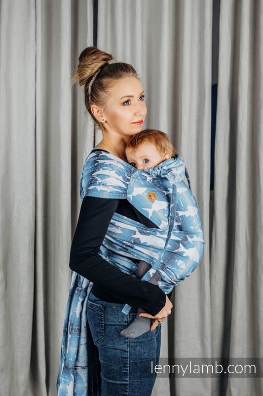 WRAP-TAI carrier Mini with hood/ jacquard twill / 100% cotton / FISH'KA BIG BLUE  #babywearing