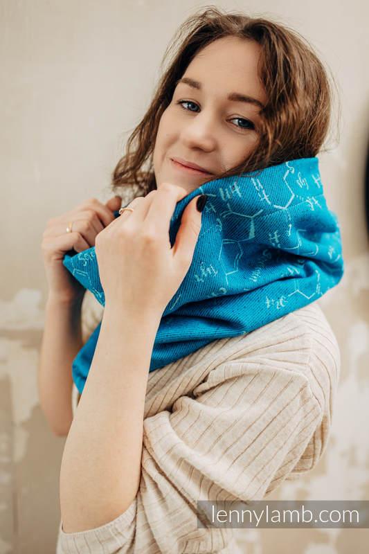 Scaldacollo (Tessuto esterno - 72% cotone, 28% seta; Rivestimento - 100% cotone) - LOVE HORMONES - LOVE OCEAN & TURQUOISE #babywearing