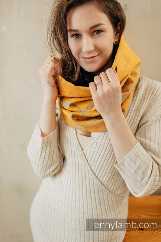 Snood Scarf (100% cotton) - SYMPHONY - SUN GIFT & ANTHRACITE #babywearing