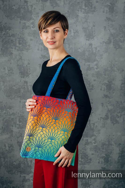 Shopping bag made of wrap fabric (100% cotton) - RAINBOW LOTUS  #babywearing