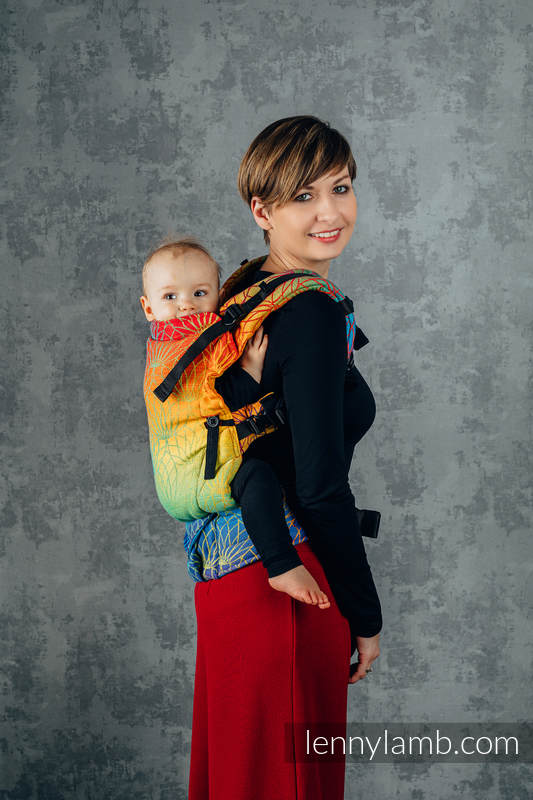 LennyUpGrade Tragehilfe, Größe Standard, Jacquardwebung, 100% Baumwolle - RAINBOW LOTUS  #babywearing