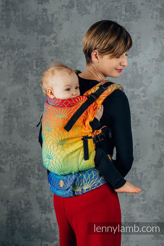 Marsupio LennyUpGrade, misura Standard, tessitura jacquard, 100% cotone -  RAINBOW LOTUS   #babywearing