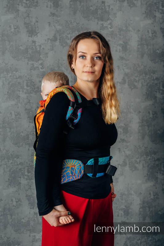 LennyPreschool Carrier, Preschool Size, jacquard weave 100% cotton - RAINBOW LOTUS  #babywearing