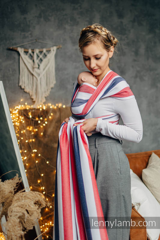 Baby sling for babies with low birthweight, Broken Twill Weave (bamboo + cotton) - MARINE - size M #babywearing