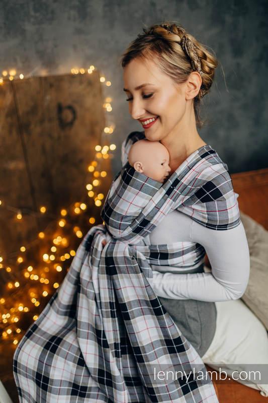 Chusta dla dzieci z niską wagą urodzeniową, tkana splotem skośnym (100% bawełna) - KRATA ARKADIA - rozmiar XS #babywearing