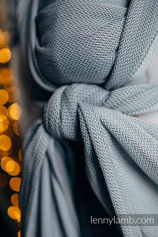 Baby sling for babies with low birthweight , Herringbone Weave (100% cotton) - LITTLE HERRINGBONE GREY - size M (grade B) #babywearing