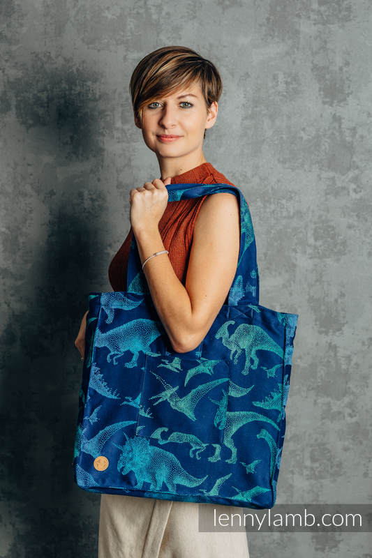 Shoulder bag made of wrap fabric (100% cotton) - JURASSIC PARK - EVOLUTION  - standard size 37cmx37cm #babywearing