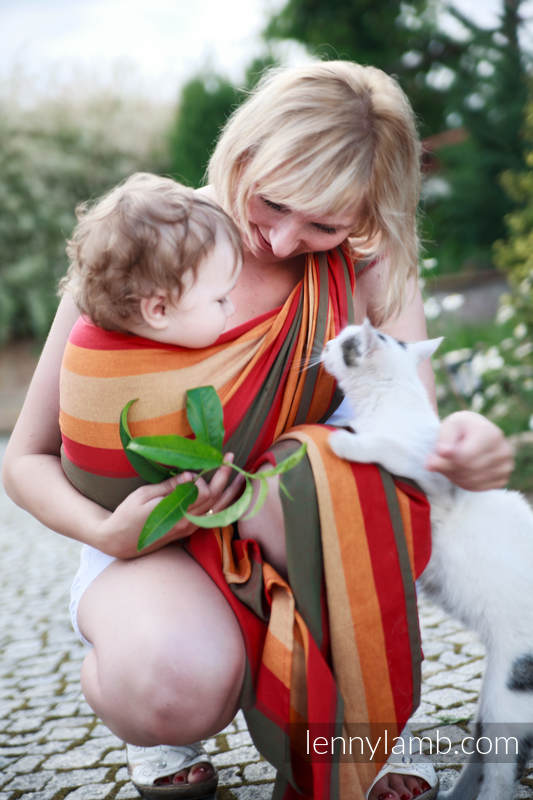 Baby Sling, Broken Twill Weave (100% cotton) - AUTUMN - size XS #babywearing