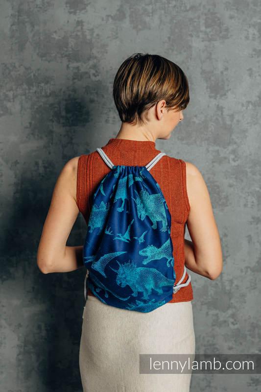 Sackpack made of wrap fabric (100% cotton) - JURASSIC PARK - EVOLUTION  - standard size 32cmx43cm #babywearing