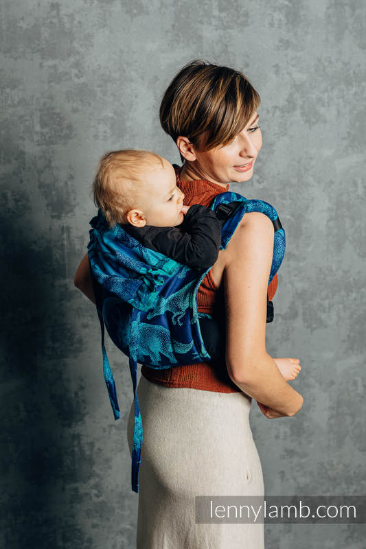 Lenny Buckle Onbuhimo baby carrier, toddler size, jacquard weave (100% cotton) - JURASSIC PARK - EVOLUTION  #babywearing
