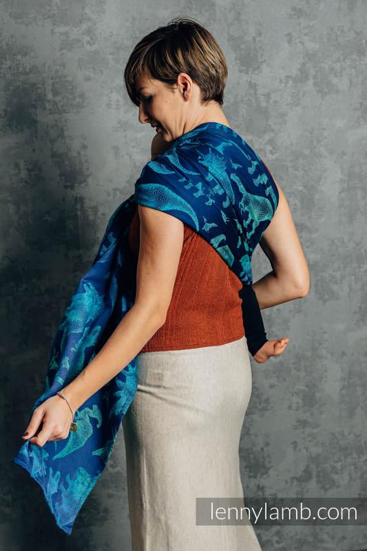 Ringsling, Jacquard Weave (100% cotton) - with gathered shoulder - JURASSIC PARK - EVOLUTION  - standard 1.8m (grade B) #babywearing