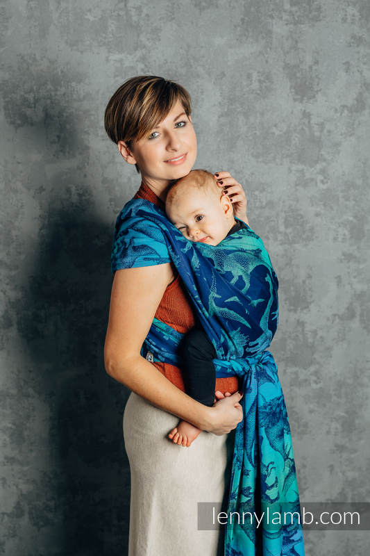 Baby Wrap, Jacquard Weave (100% cotton) - JURASSIC PARK - EVOLUTION - size XS #babywearing