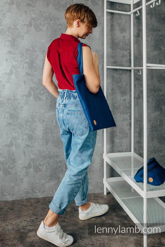 Shopping bag made of wrap fabric (100% cotton) - COBALT  #babywearing