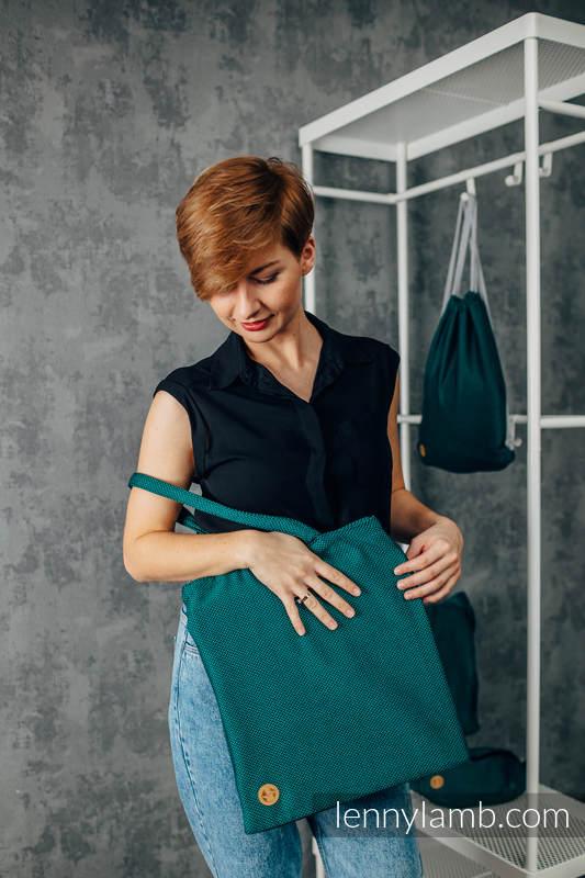 Shopping bag made of wrap fabric (100% cotton) - EMERALD #babywearing