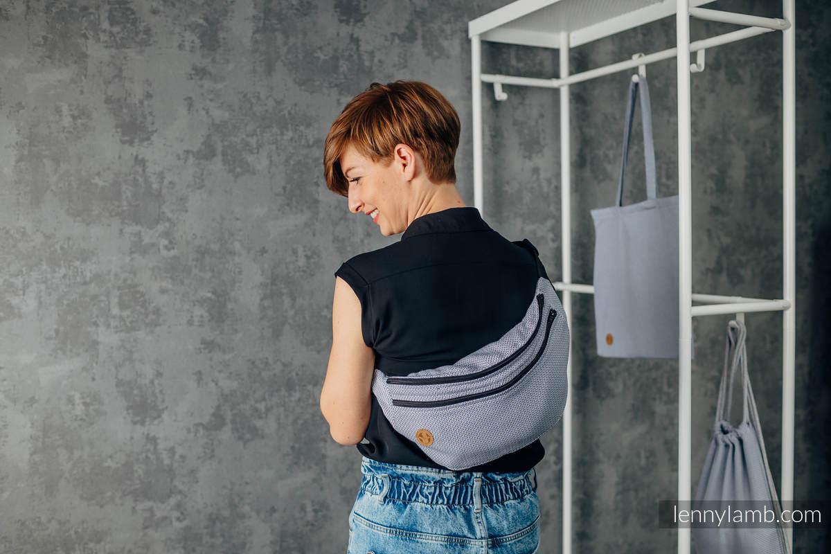 Waist Bag made of woven fabric, size large (100% cotton) - LITTLE HERRINGBONE GREY #babywearing