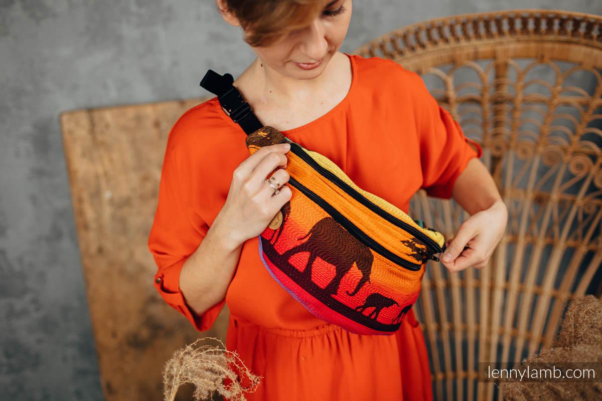 Waist Bag made of woven fabric, size large (100% cotton) - RAINBOW SAFARI 2.0 #babywearing