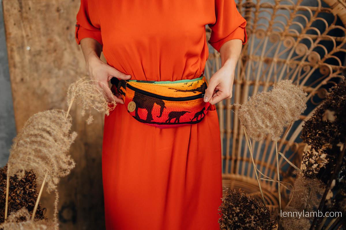 Waist Bag made of woven fabric, (100% cotton) - RAINBOW SAFARI 2.0 #babywearing