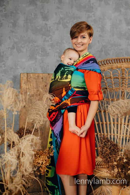 Baby Wrap, Jacquard Weave (100% cotton) - RAINBOW SAFARI 2.0 - size M #babywearing