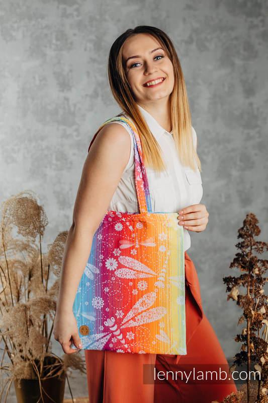 Shopping bag made of wrap fabric (100% cotton) - DRAGONFLY RAINBOW  #babywearing