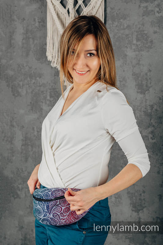 Riñonera hecha de tejido de fular (100% algodón) - PAISLEY - KINGDOM  #babywearing