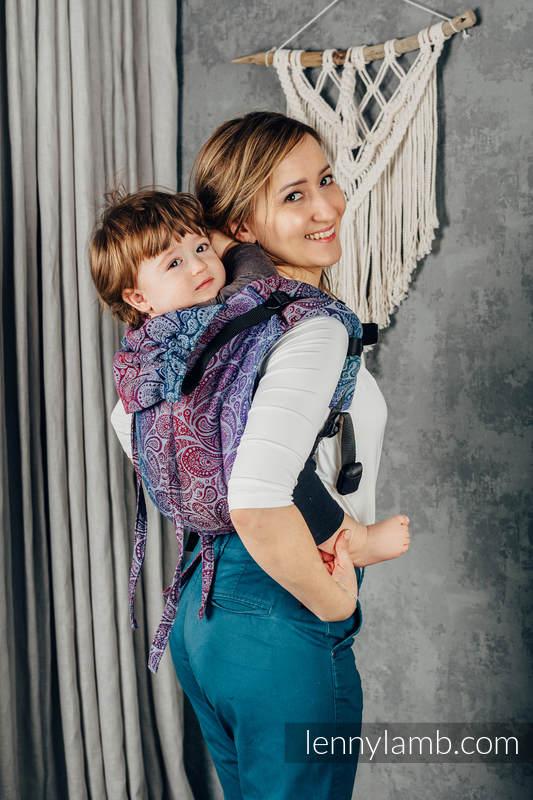 Nosidło Klamrowe ONBUHIMO z tkaniny żakardowej (100% bawełna), rozmiar Standard - PAISLEY - KINGDOM  #babywearing