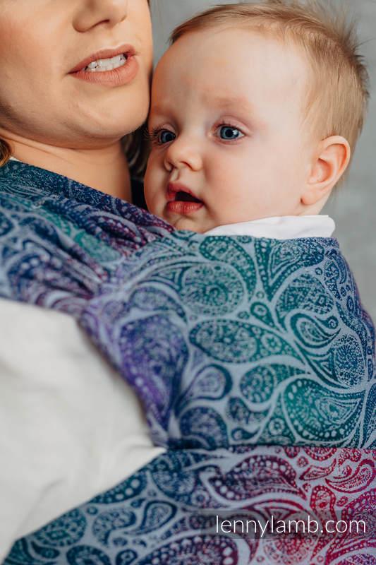 LennyHybrid Half Buckle Carrier, Standard Size, jacquard weave 100% cotton - PAISLEY - KINGDOM  #babywearing