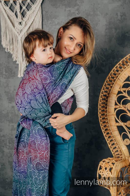 Żakardowa chusta do noszenia dzieci, bawełna - PAISLEY - KINGDOM - rozmiar XS #babywearing