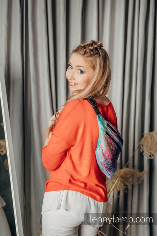Waist Bag made of woven fabric, size large (100% cotton) - SYMPHONY - DAYDREAM #babywearing