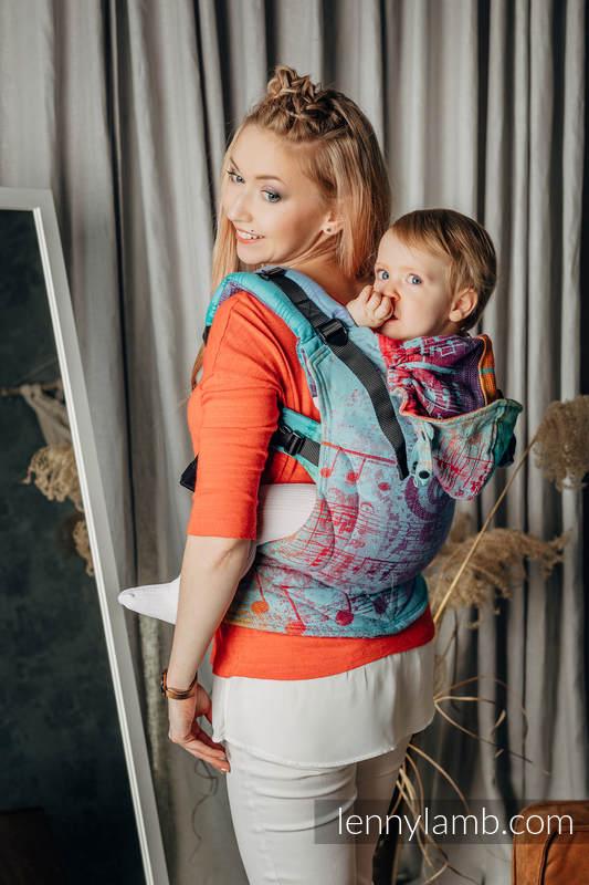 Ergonomische Tragehilfe LennyGo, Größe Toddler, Jacquardwebung, 100% Baumwolle - SYMPHONY - DAYDREAM #babywearing