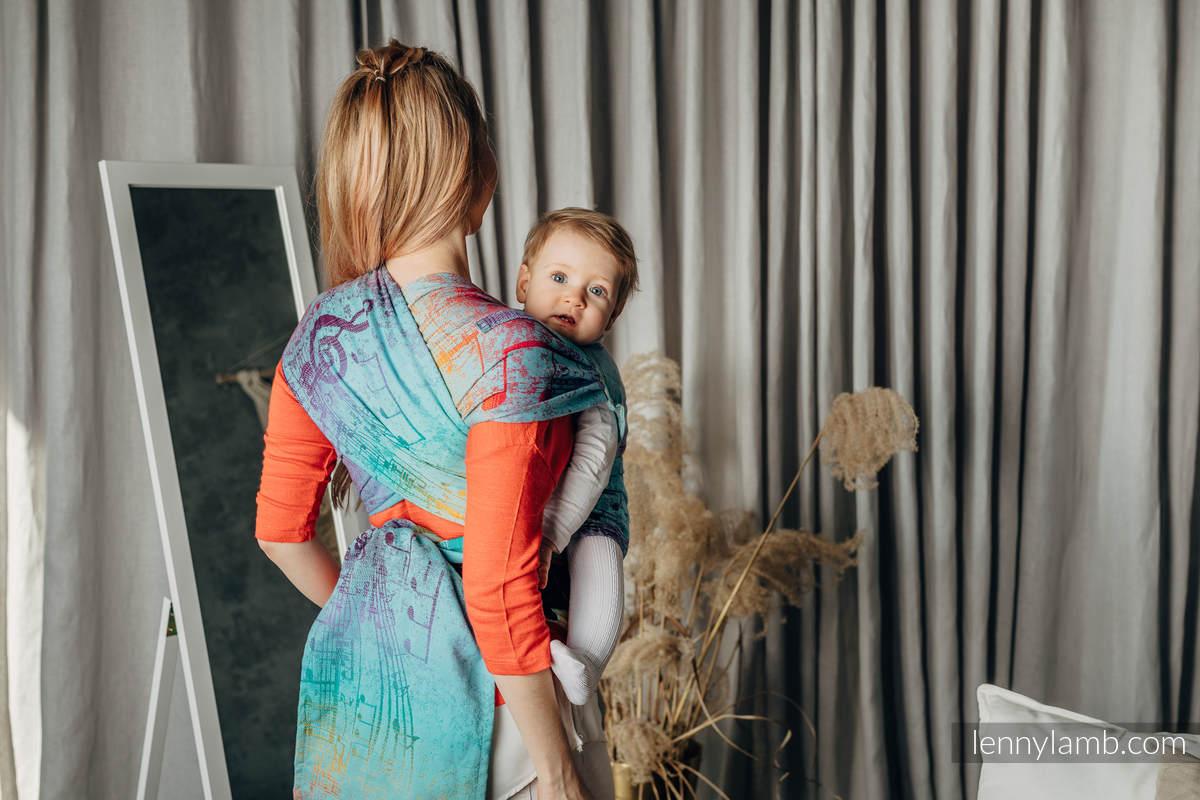 LennyHybrid Half Buckle Tragehilfe, Größe Standard, Jacquardwebung, 100% Baumwolle - SYMPHONY - DAYDREAM #babywearing
