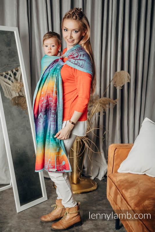 RingSling, Jacquardwebung (100% Baumwolle), mit Raffung an den Ringen - SYMPHONY - DAYDREAM - standard 1.8m #babywearing