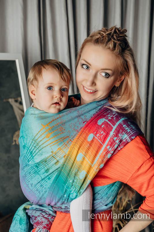 Tragetuch, Jacquardwebung (100% Baumwolle) - SYMPHONY - DAYDREAM - Größe S #babywearing