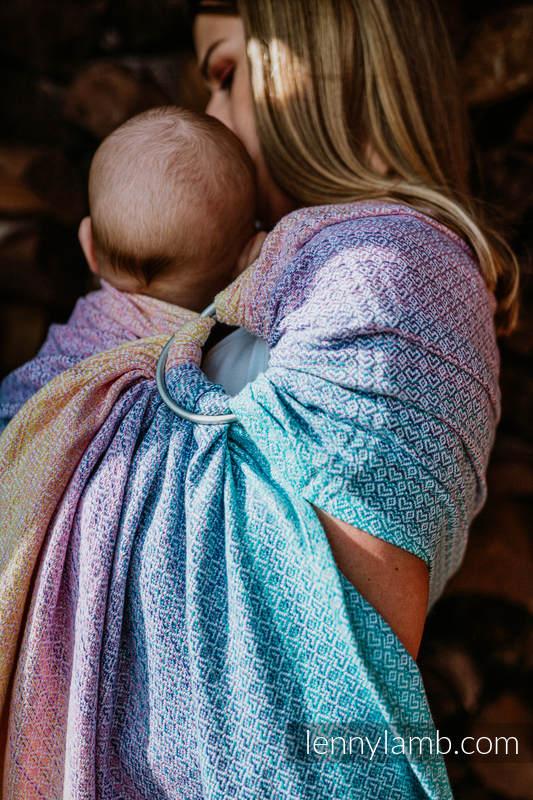 Ringsling, Jacquard Weave (80% cotton, 20% bamboo), with gathered shoulder - LITTLELOVE - CANDYLAND - standard 1.8m #babywearing