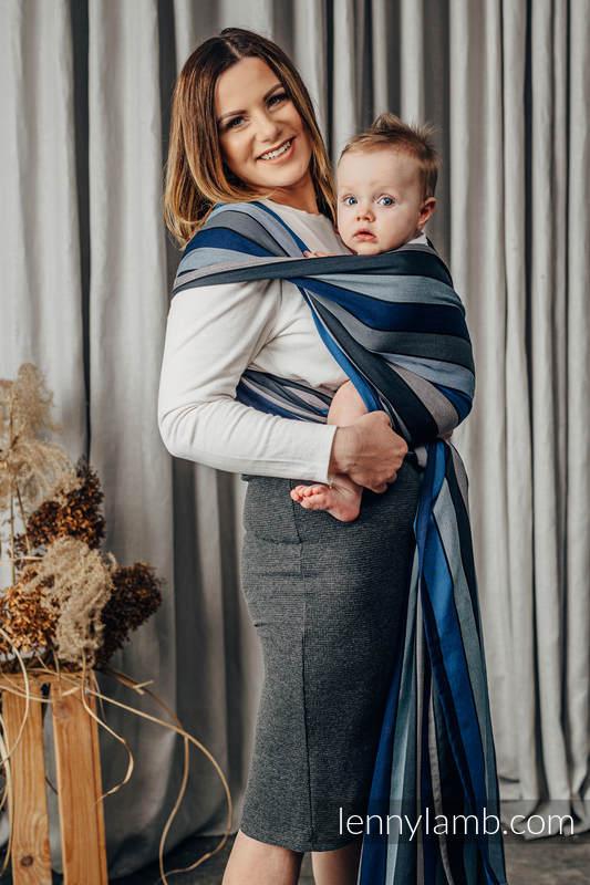 Chusta do noszenia dzieci, tkana splotem skośno-krzyżowym (100% bawełna) - WODOSPAD - rozmiar XS #babywearing